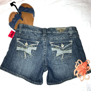 NWT 1st Kiss Denim Jean Short Shorts Size 13
